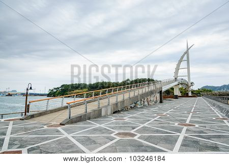 Jeju-do, Korea - April 12, 2015: Saeyeongyo Bridge In Jeju Island