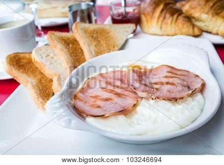 Prepared Egg and ham - prepared egg under the sun