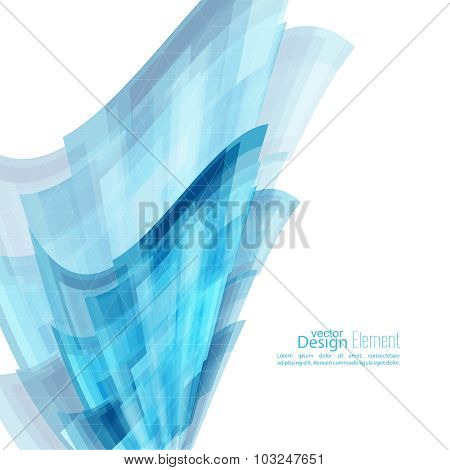 Abstract Background With Blue Curved Stripes