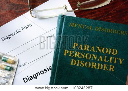 Paranoid personality disorder concept.