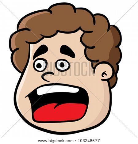 fat boy screaming cartoon