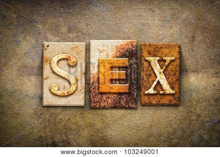 Sex Concept Letterpress Leather Theme