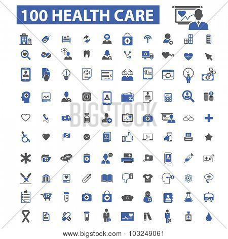 100 health care icons