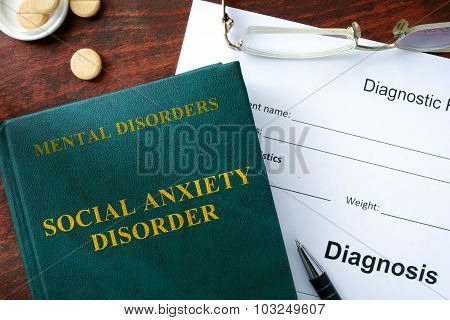 Social anxiety disorder concept.