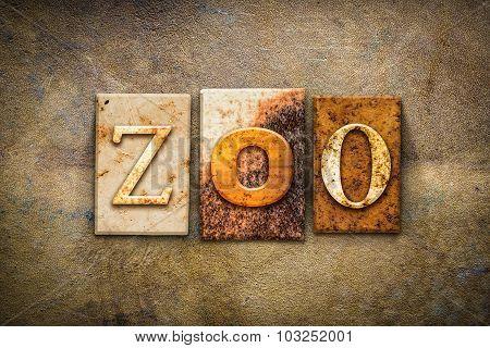 Zoo Concept Letterpress Leather Theme