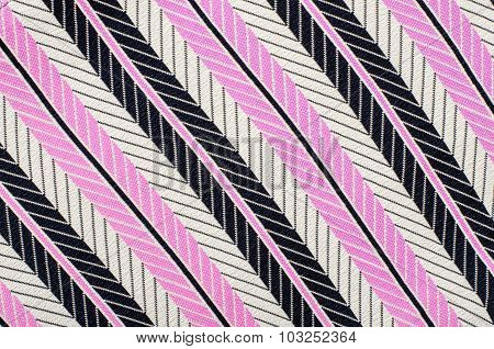Pink And Black Striped Background.