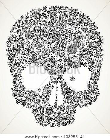 Floral Skull