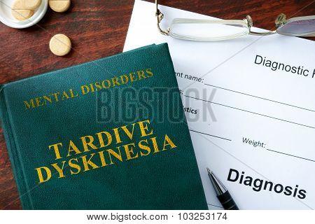 Tardive dyskinesia concept.