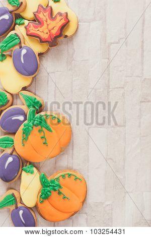 Autumn  decorated cookies