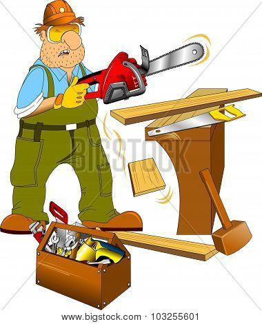 Carpenter And Toolbox