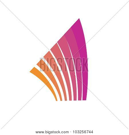 Abstract Lines Logo Template. Architecture Elements. Rise Building Theme.