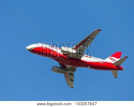 White-red Superjet 100-95B