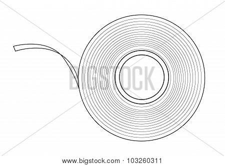 Insulation tape. Contour