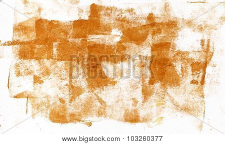 Abstract Acrylic Brushstrokes Golden Background Texture