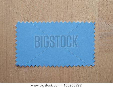 Blue Paper Sample