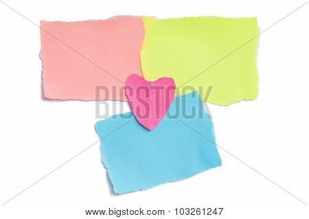 collection of colorful post it paper note isolated