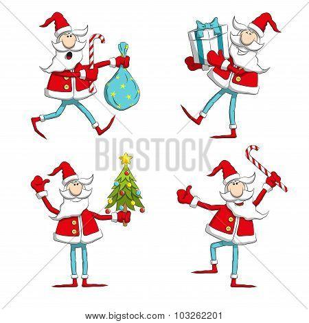 Santa poses