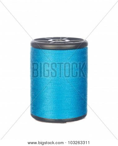 Colourful Blue Thread Isolated On White