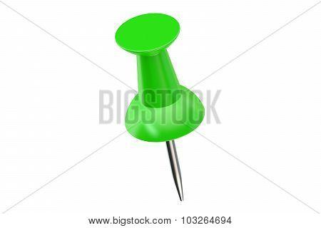 Green Push Pin Closeup