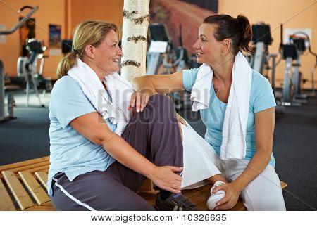 Women Talking After Fitness Training