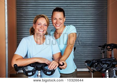 Women Together In Gym