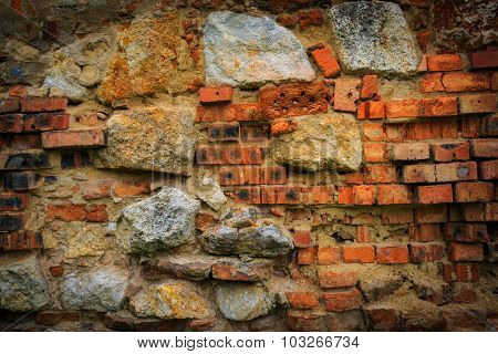 Brickwork of old wall - abstract background