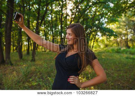 a woman of European appearance twenty years doing self on the ph