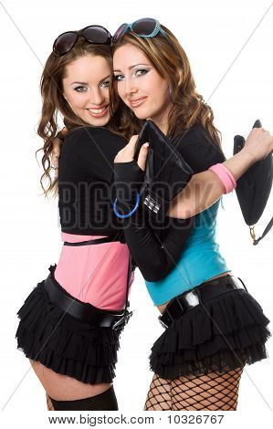 Portrait Of Two Happy Attractive Young Women