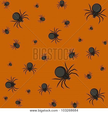 Halloween pattern with spiders.