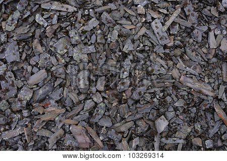 Background Of Mottled Crushed Stone