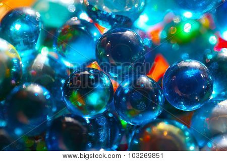 Shinning Blue Glass Beads