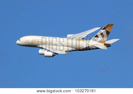 Etihad Airways Airbus A380 Airplane