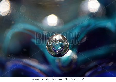 Air Bubble In Colored Glass