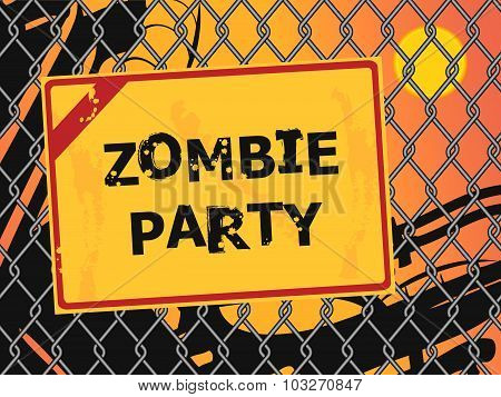 Zombie Party Message