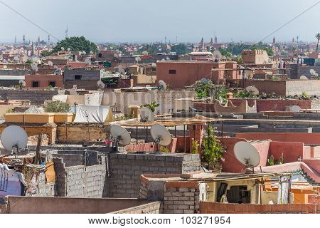 View Over Marrakechs Medina