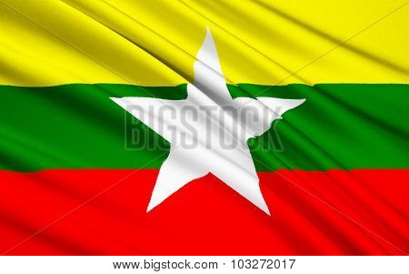 Flag Of The Republic Of The Union Of Myanmar - Burma