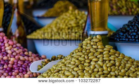 Olives On A Market In Marrakech