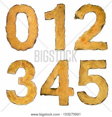Old, Vintage Numbers 012345