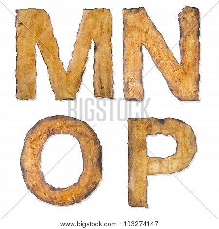 Old, Vintage Alphabet Ijkl