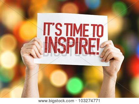 Its Time to Inspire placard with bokeh background