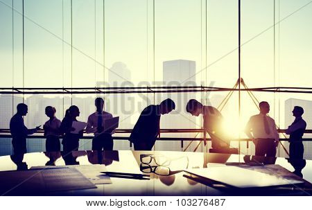 Business People Meeting Bowing Japanese Culture Concept