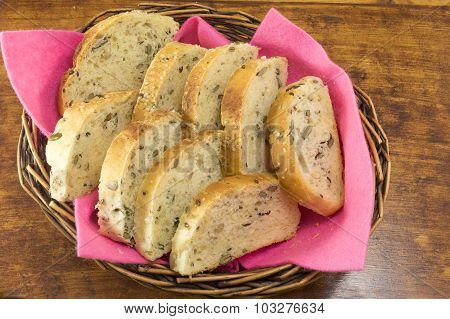 Integral Bread With Seeds Sliced