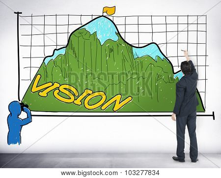 Vision Sight Goals Success Triumph Concept
