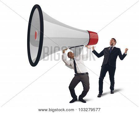 Business powerful speech