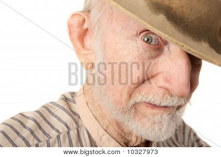 Grungy Senior Cowboy