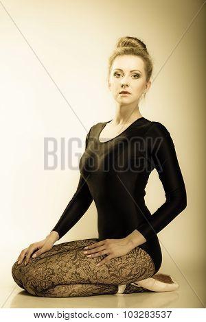 Graceful Woman Ballet Dancer Full Length