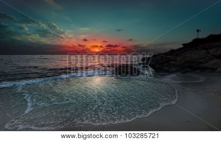 sunset on the island of Cyprus