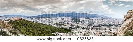 Aerial Panorama view of Athens