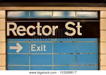 Rector Street Subway Station - New York City