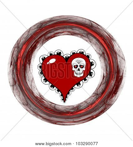 Red Heart, Skull And Plasmatic Ring
